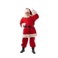 Santa Claus pointing up