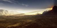 desert sunset landscape background