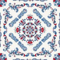 Rosemaling vector pattern 37