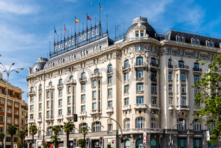 The Palace Hotel in Paseo of Prado in Madrid
