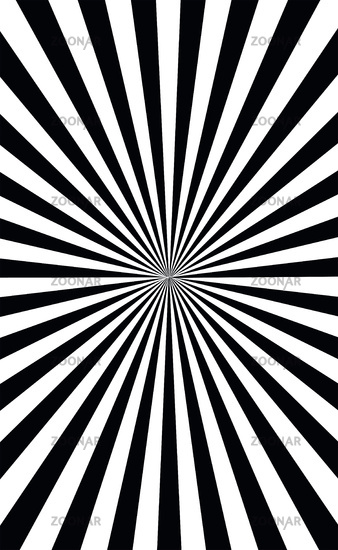 Abstract black and white sun rays - Vector