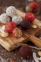 Energiekugeln, Protein Balls mit Kokos