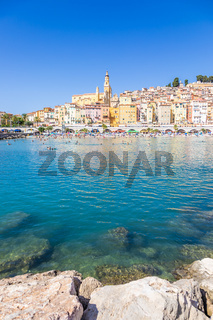 Menton on the French Riviera, named the Coast Azur, located in the South of France