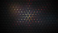 Dark hexagons and lava