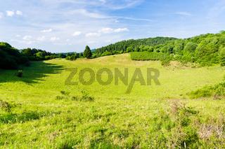 low mountain landscape in Germany