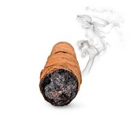 One smoking cigar
