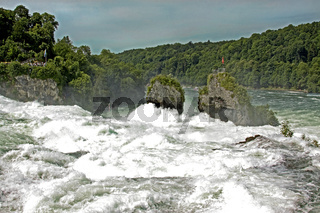 Felsen am Rheinfall bei Schaffhausen