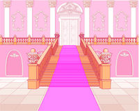 Luxury staircase in palace