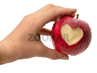 Gesunde Ernährung - Apfel mit Herz