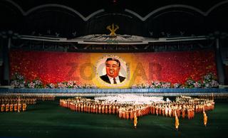 Nordkoreanische Spiele zeigen Kim Il Sung