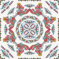 Rosemaling vector pattern 4