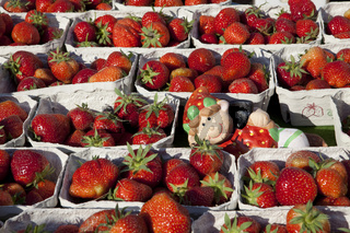 Strawberries at a market stal