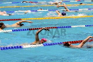 Einschwimmen vor den Deutschen Meisterschaften