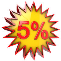 star discount of five percent