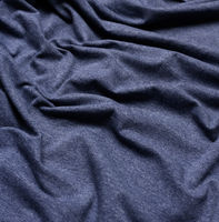 wrinkled blue cotton fabric for sewing t-shirts and clothing