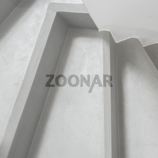 Modern concrete stairs