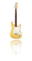 E-Gitarre mit Spiegelung, gelb