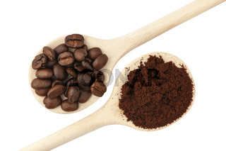 Coffee beans and coffee powder_small