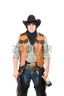 Portrait of young cowboy