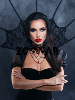 Vampire woman in Halloween costume