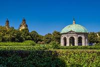 Hofgarten Park with Dianatempel in Munich, Germany