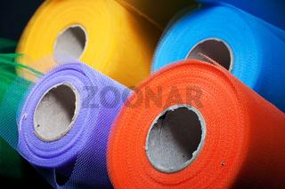 Reels of mesh material