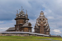 Famous wooden buildings on the island Kizhi Russia