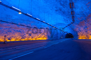 Laerdal tunnel, Norway, the longest road tunnel in the world