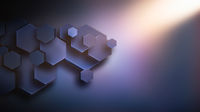 Abstract business background with hexagons