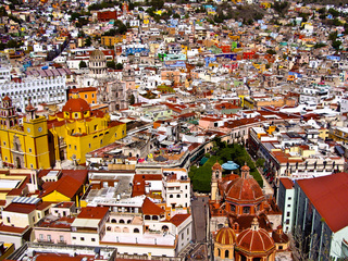 Vibrant mexican city of Guanajuato