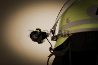 Feuerwehr Feuerwehrhelm mit Taschenlampe