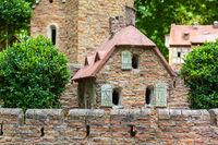 Model Burganlage in Stecklenberg Harz