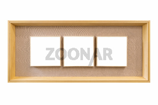 wooden picture frame isolated