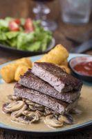 Steak mit Pilzsauce