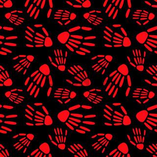 Skeleton hand seamless pattern. bones pattern