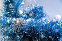 blue christmas decoration as a holiday background