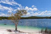 Lake McKenzie on Fraser Island in Queensland, Australia
