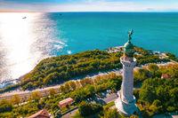 Trieste lighthouse Vittoria aerial view