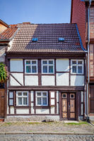 Street and old house in Quedlinburg