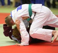 Judo Wettkampftag mit 2 Kämpfer auf Matte
