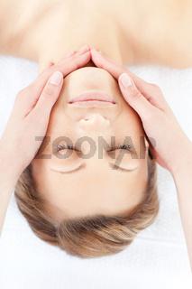 Attractive woman having a massage