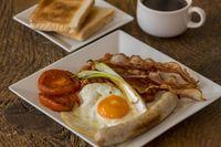 Nahaufnahme eines englischen Frühstücks