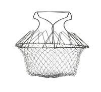 Collapsible round wire fruit washing basket