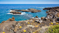 Atlantic Ocean and coast of La Palma island