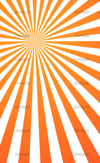 Abstract image, orange rays of the sun on a white background - Vector