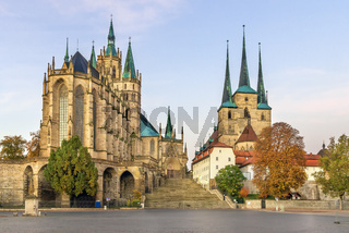 Erfurt Cathedral and Severikirche, Germany