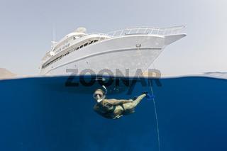 Schnorcheln vor Safarischiff, Aegypten