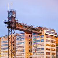 Observation platform  and Gondolen restaurant in Stockholm