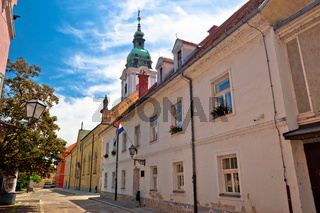 Town of Karlovac church and architecture view