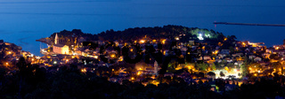 Adriatic town of Veli Losinj panoramic view